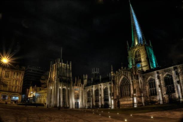 sheffield city cathedral - sheffield stock-fotos und bilder