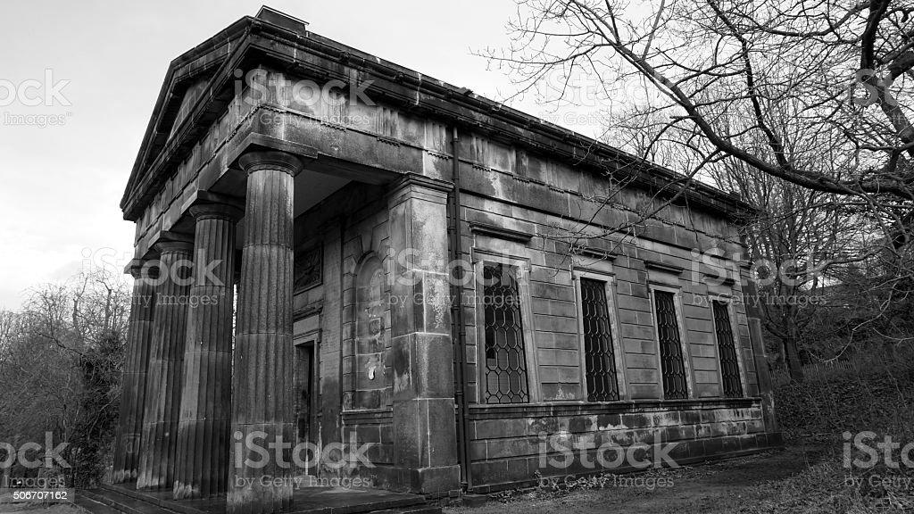 Sheffield City Cemetery Mausoleum stock photo