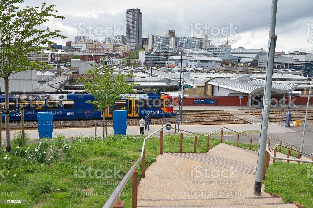 Sheffield city skyline stock photo