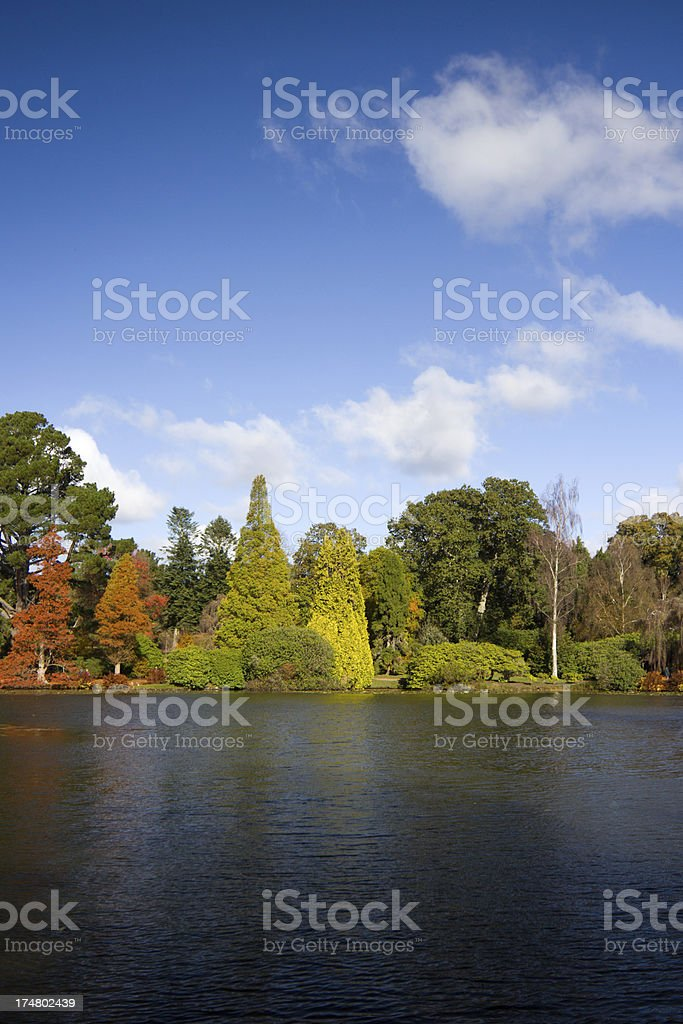 Sheffield Park in East Sussex, England royalty-free stock photo