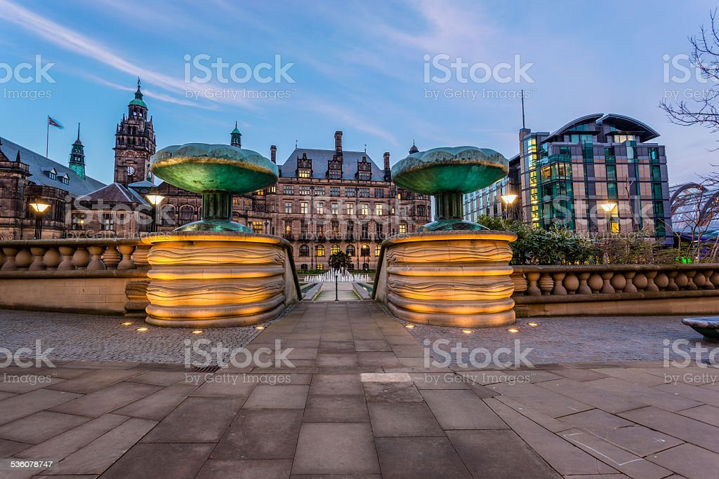 Sheffield town centre stock photo