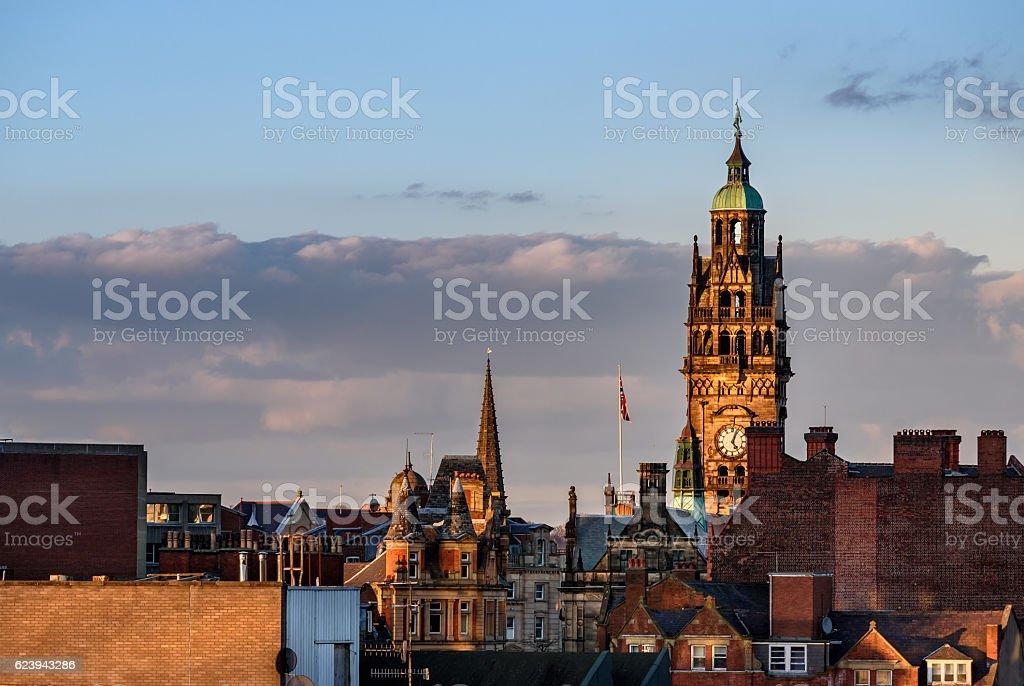 Sheffield Town Hall England stock photo
