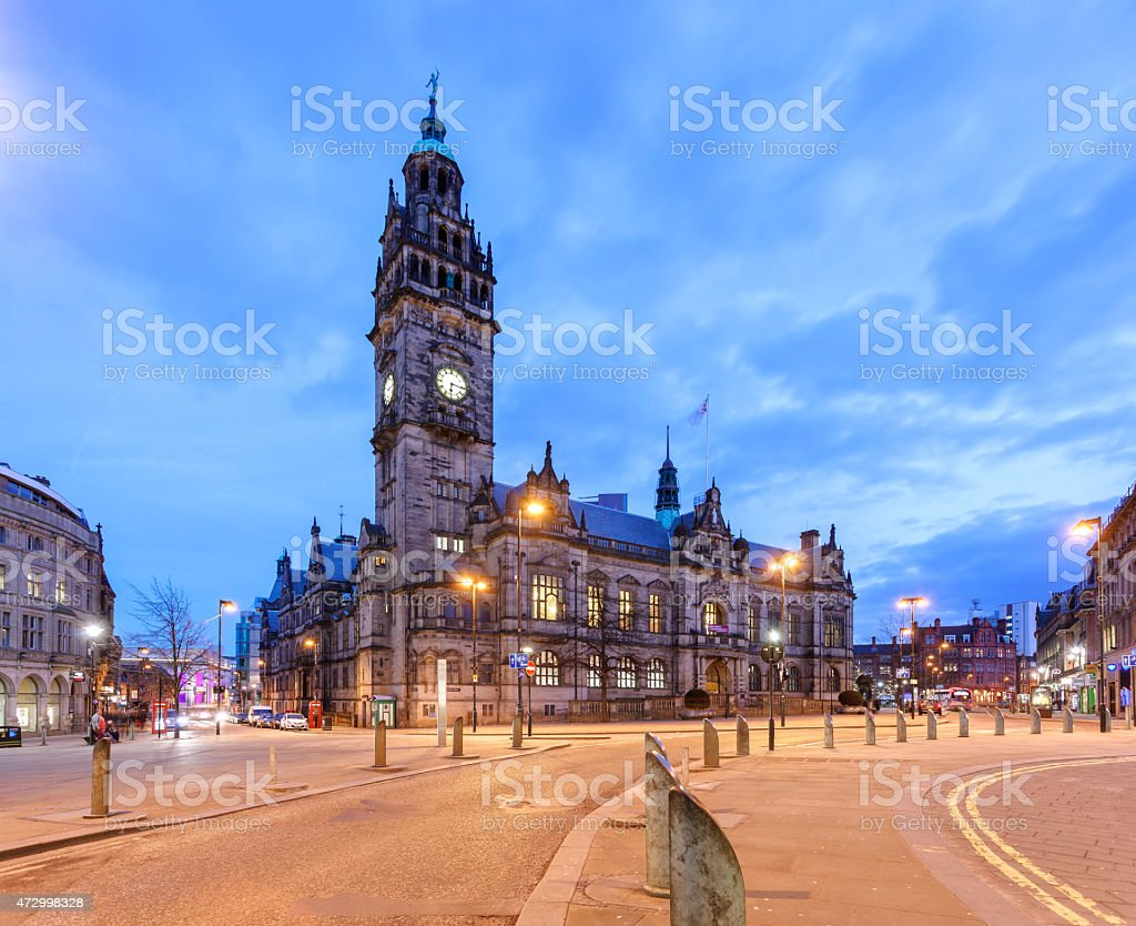 Sheffield town hall stock photo