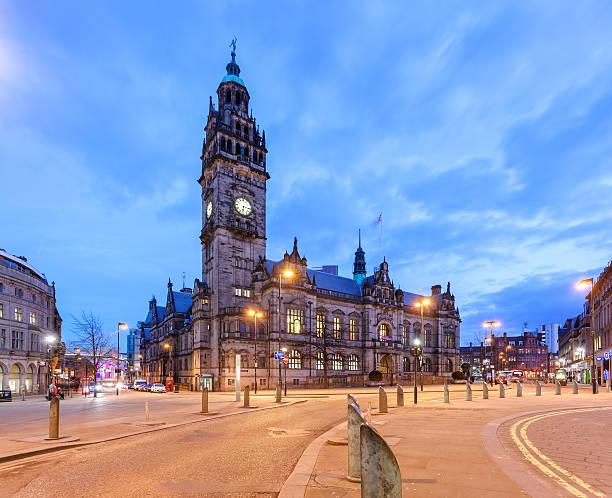 sheffield town hall - sheffield stock-fotos und bilder
