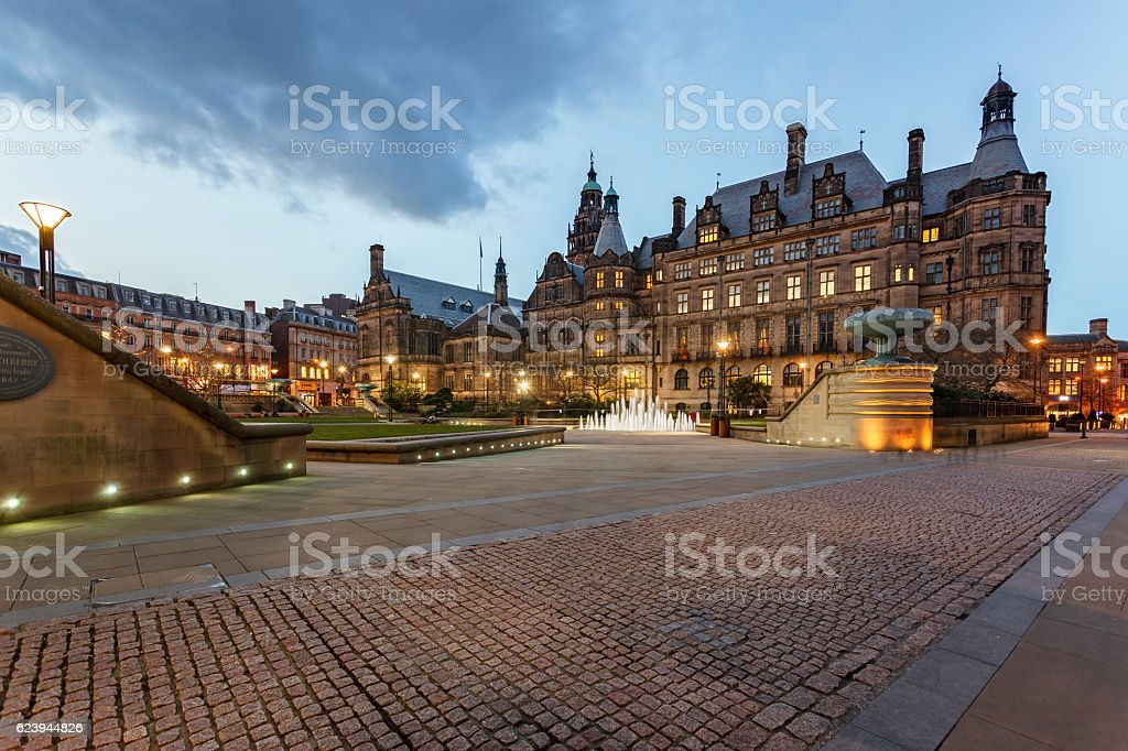 Sheffield Town Hall, Sheffield-England stock photo