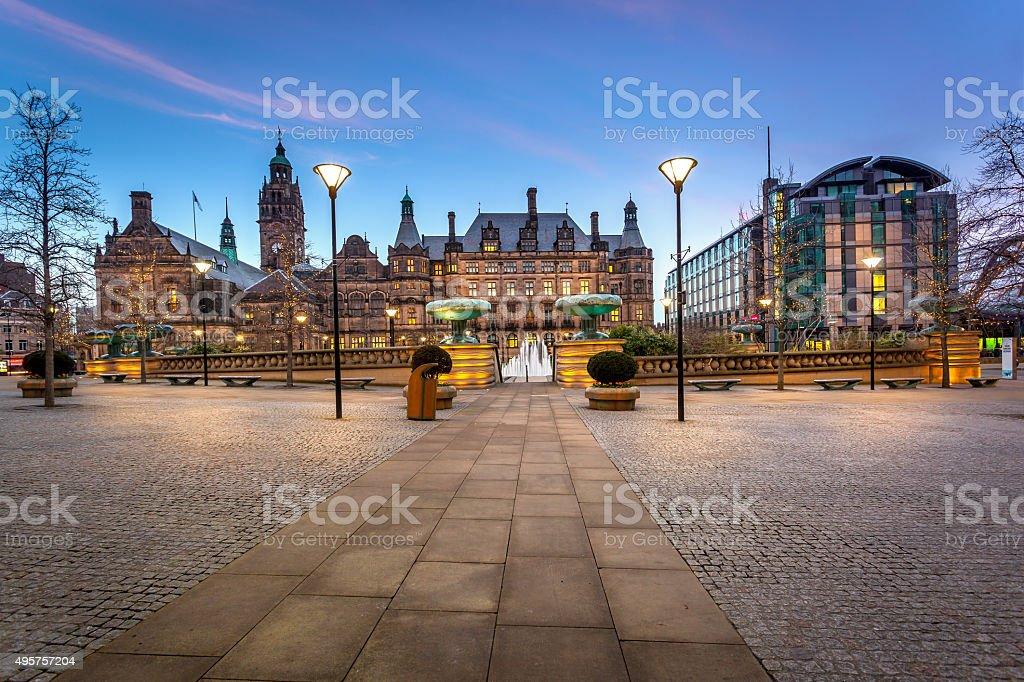 Sheffield Townhall UK stock photo