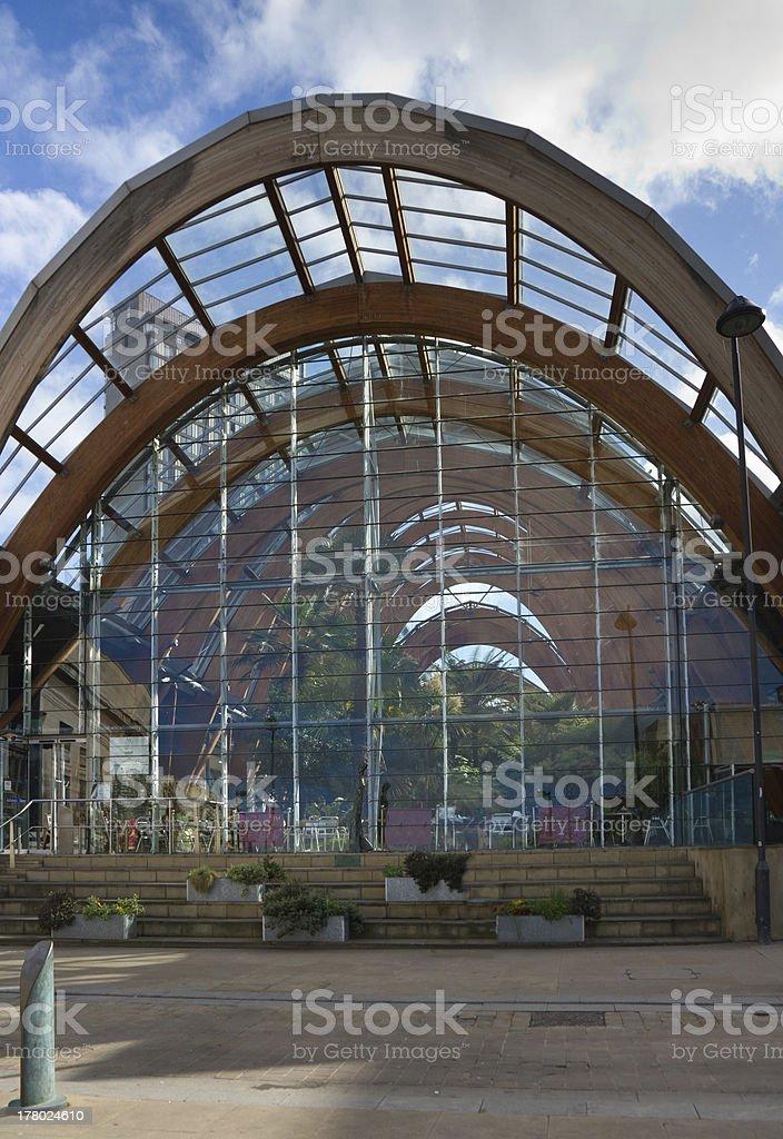 Sheffield Winter Gardens stock photo