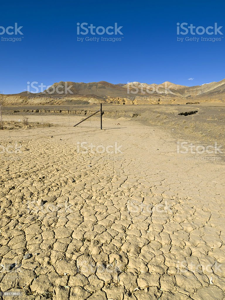 Shegar landscape - Tibet royalty-free stock photo