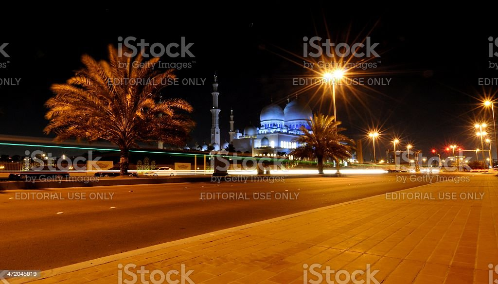 Sheik Zayed Grand Mosque at Night royalty-free stock photo