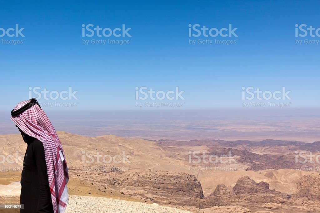 sheikh and oil industry stock photo