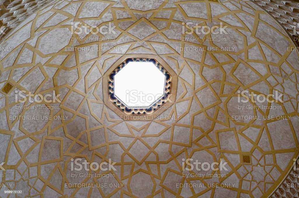 Sheikh Lotfollah Mosque at Naghsh-e Jahan Square in Isfahan, Iran. Construction of the mosque started in 1603 and was finished in 1618. stock photo