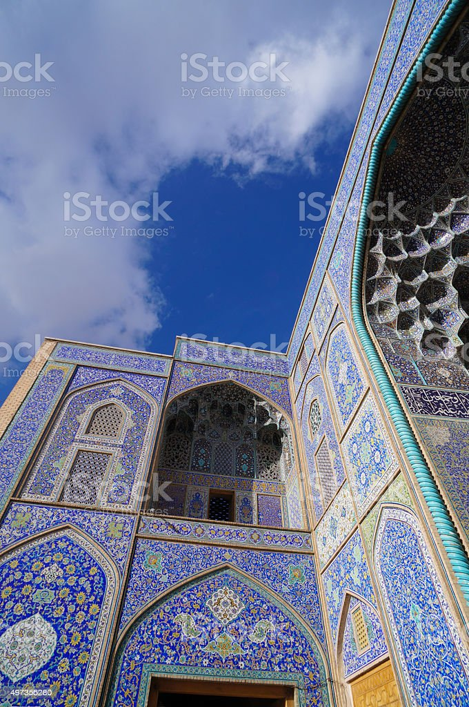 Sheikh Lotfollah Mosque at Naghsh-i Jahan Square, Isfahan, Iran. stock photo