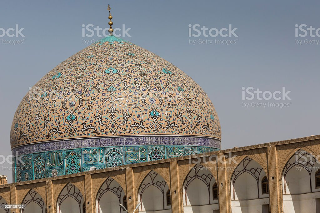 Sheikh Lotfollah Mosque at Naqhsh-e Jahan Square in Isfahan, Iran stock photo