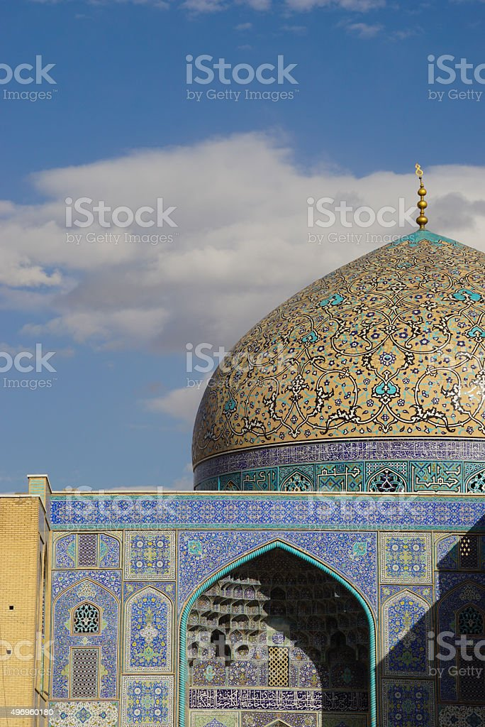 Sheikh Lotfollah Mosque in Naghsh-e Jahan Square, Isfahan, Iran. stock photo