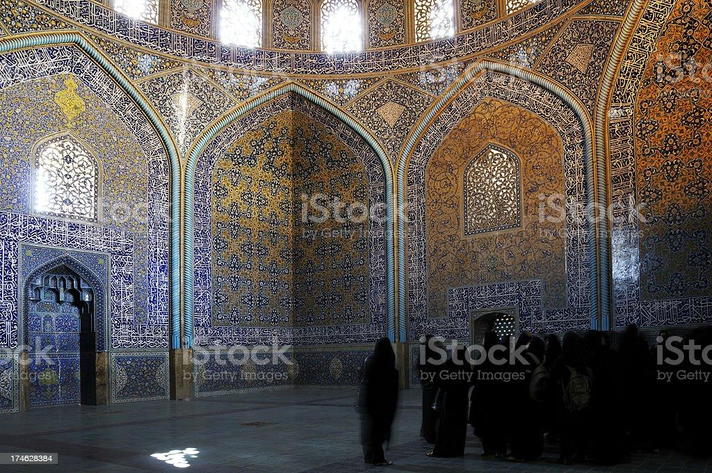 Sheikh Lotfollah Mosque, Isfahan, Iran royalty-free stock photo