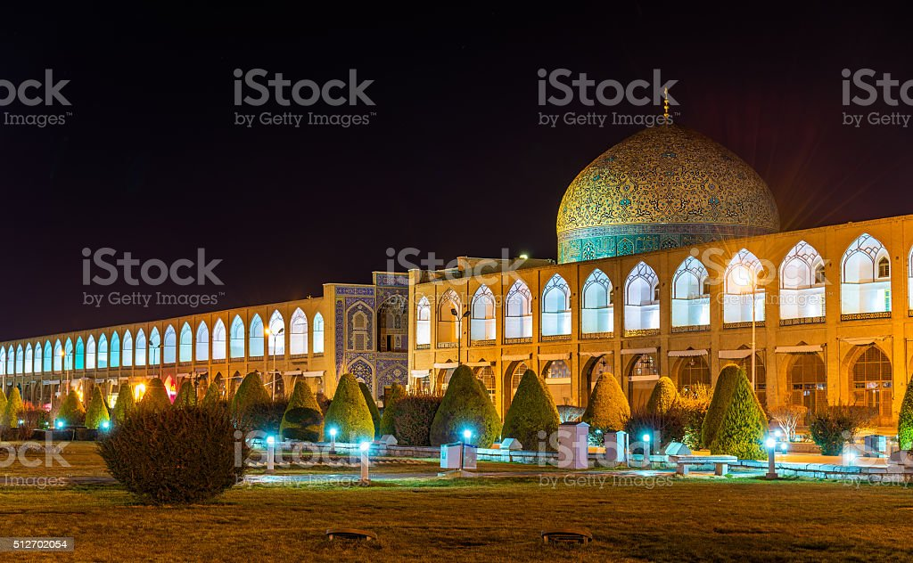 Sheikh Lotfollah Mosque on Naqsh-e Jahan Square of Isfahan, Iran stock photo