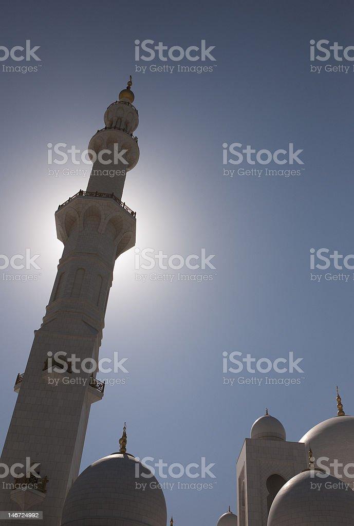 Sheikh Zayed Bin Sultan Al Nahyan Mosque, Abu Dhabi royalty-free stock photo