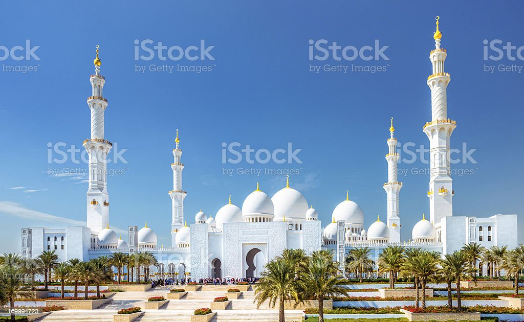 Sheikh Zayed Grand Mosque Abu Dhabi (UAE) stock photo