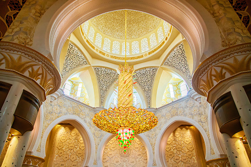 Sheikh Zayed Grand Mosque Interior In Abudhabi In The Day Stock Photo Download Image Now Istock