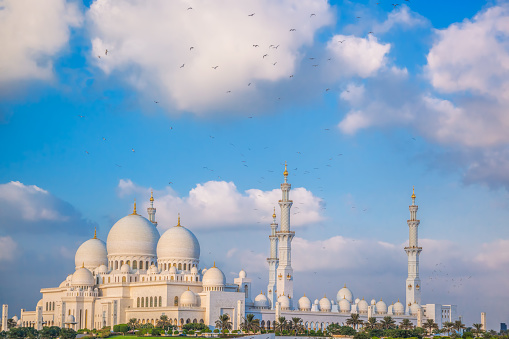istock Sheikh Zayed Grand Mosque with birds, Abu-Dhabi, United Arab Emirates 650343680