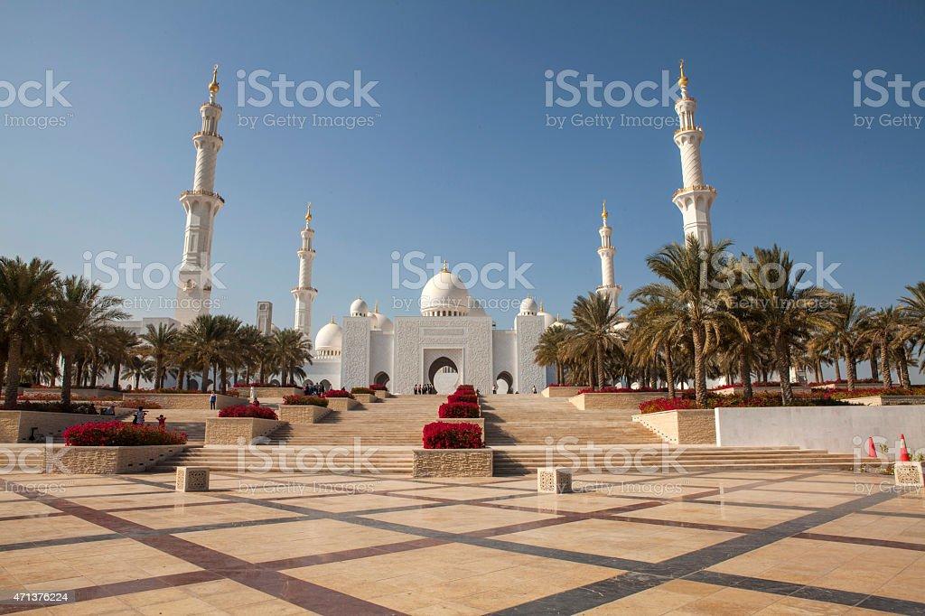 Sheikh Zayed Mosque, Abu Dhabi, UAE stock photo