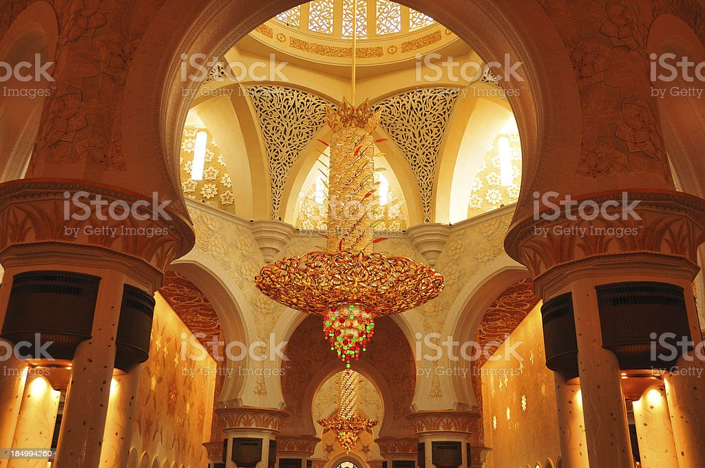 Sheikh Zayed Mosque in Abu Dhabi royalty-free stock photo
