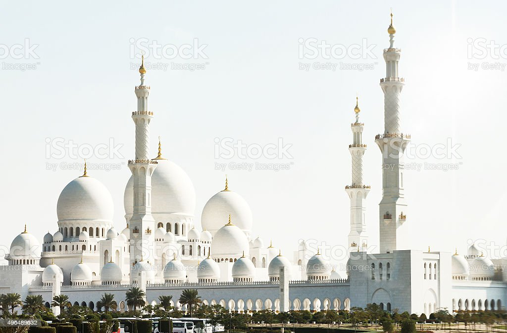 Sheikh Zayed Mosque in Abu Dhabi stock photo