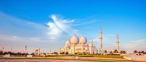 Sheikh-Zayed-Moschee in Abend leichte – Foto