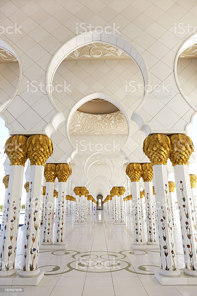 Sheikh Zayed Mosque royalty-free stock photo