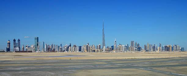Sheikh Zayed Road and Skyline of Dubai, UAE stock photo