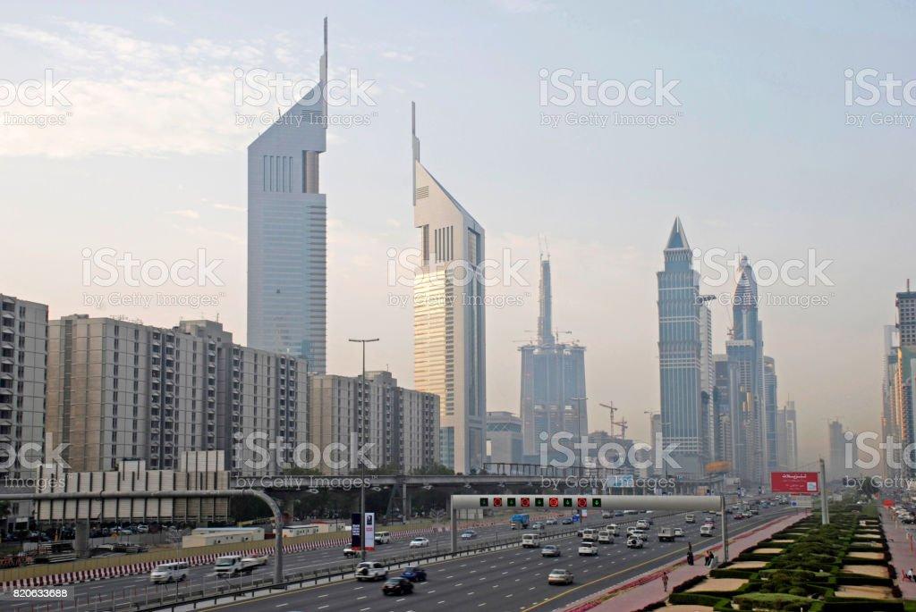 Sheikh Zayed Road, Dubai stock photo