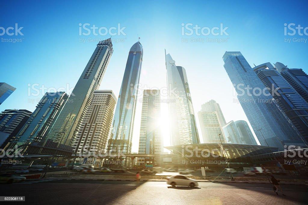 Sheikh Zayed road, United Arab Emirates stock photo