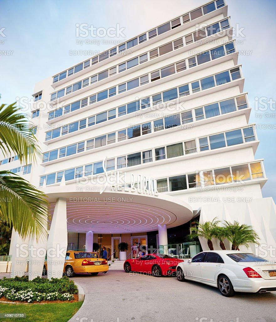Shelborne Hotel Entrance, Miami Beach stock photo