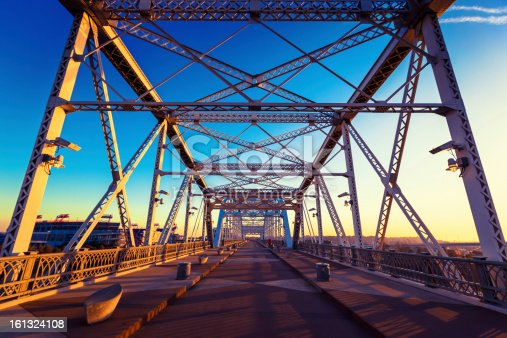 Shelby Avenue Bridge in Nashville, Tennessee, USA.