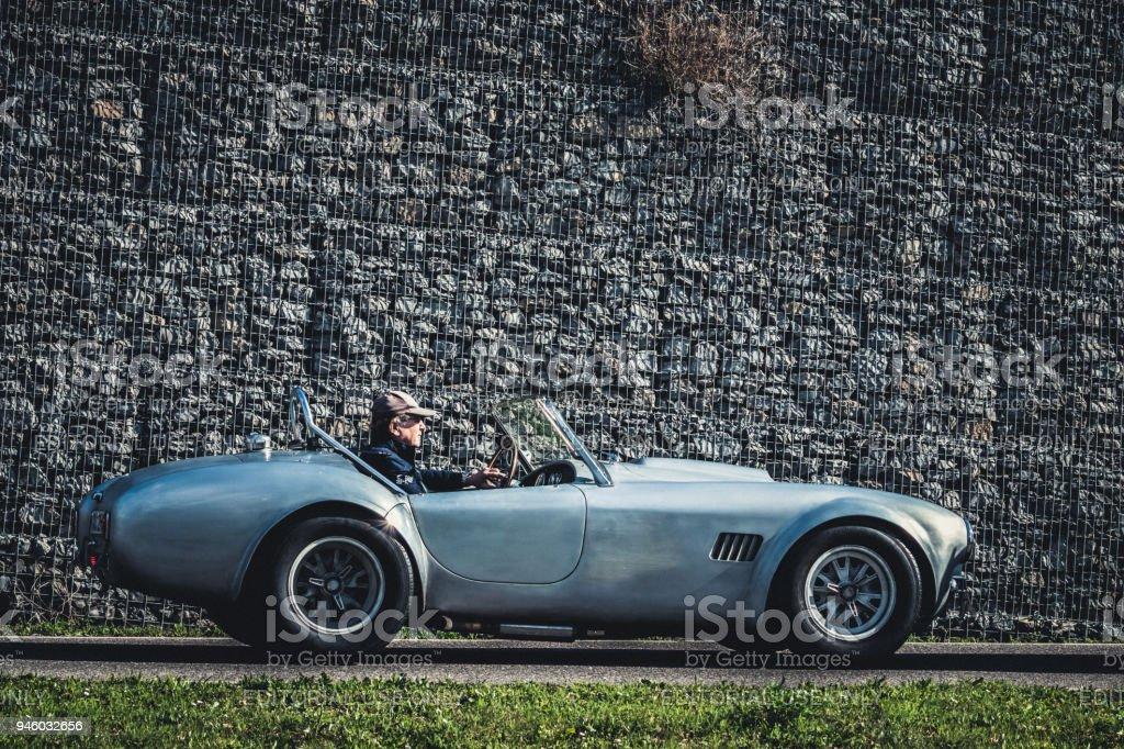 AC Shelby Cobra oldtimer car stock photo