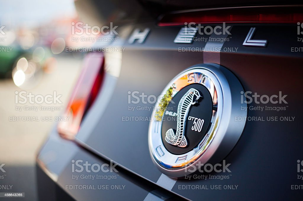 Shelby GT500 Rear Badging stock photo