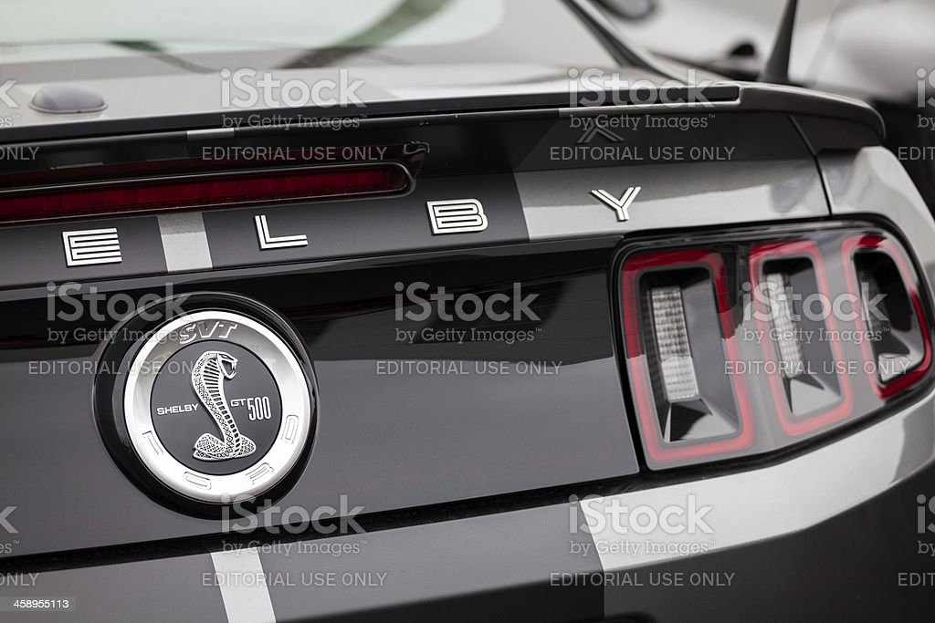 Shelby GT500 Rear Badging royalty-free stock photo