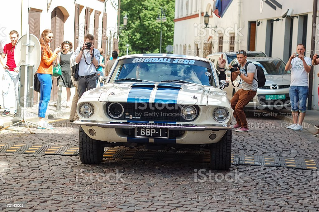 Shelby Mustang GT 500 at Gumball 3000 stock photo