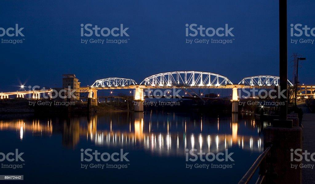 Shelby Street Bridge Lizenzfreies stock-foto