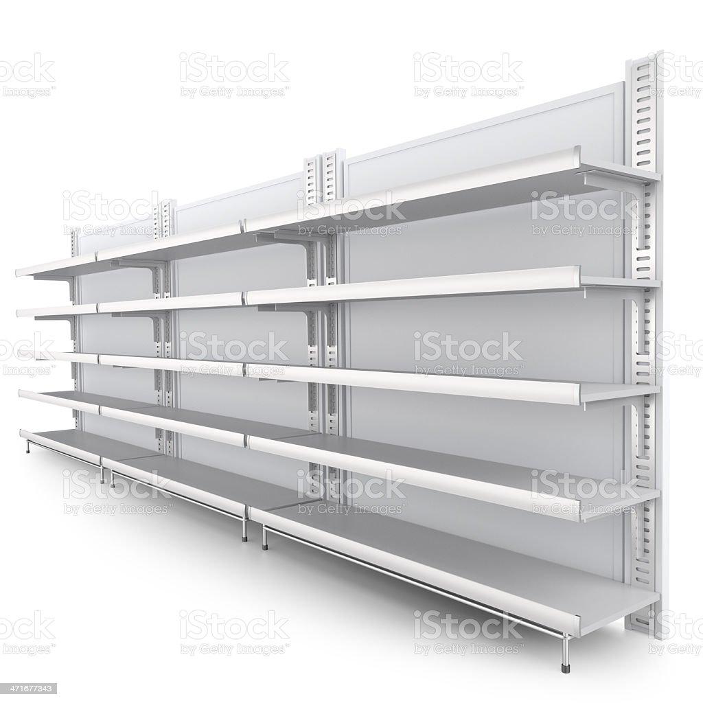 Estante. 3 d imagen en un ángulo - foto de stock