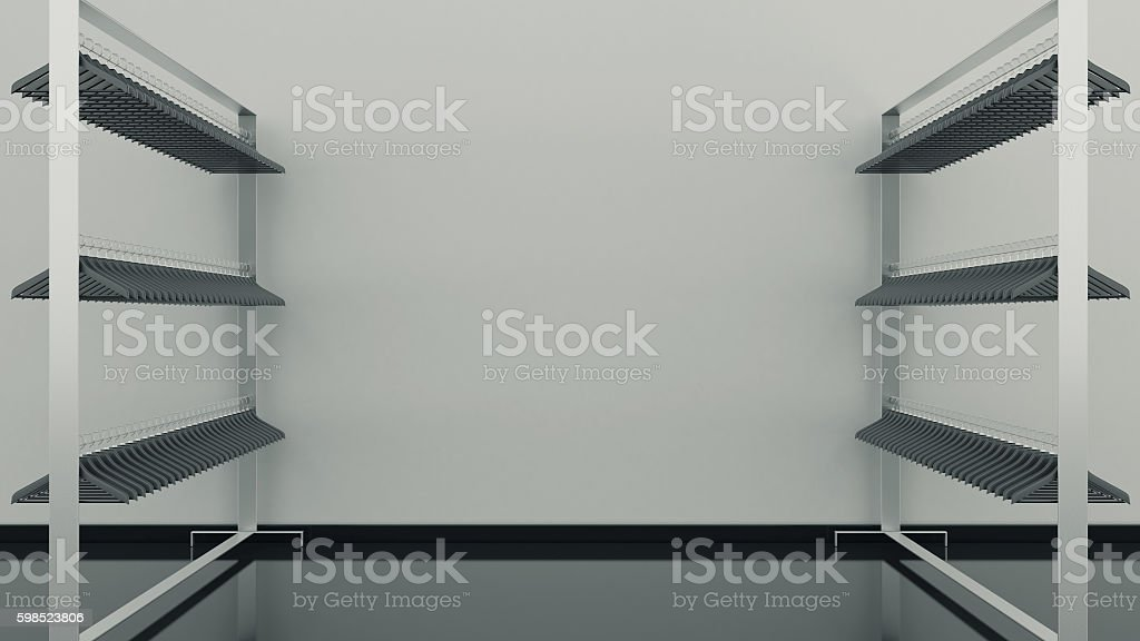 shelf clothes empty stock photo