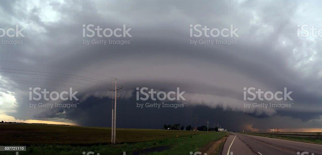 Shelf Cloud stock photo