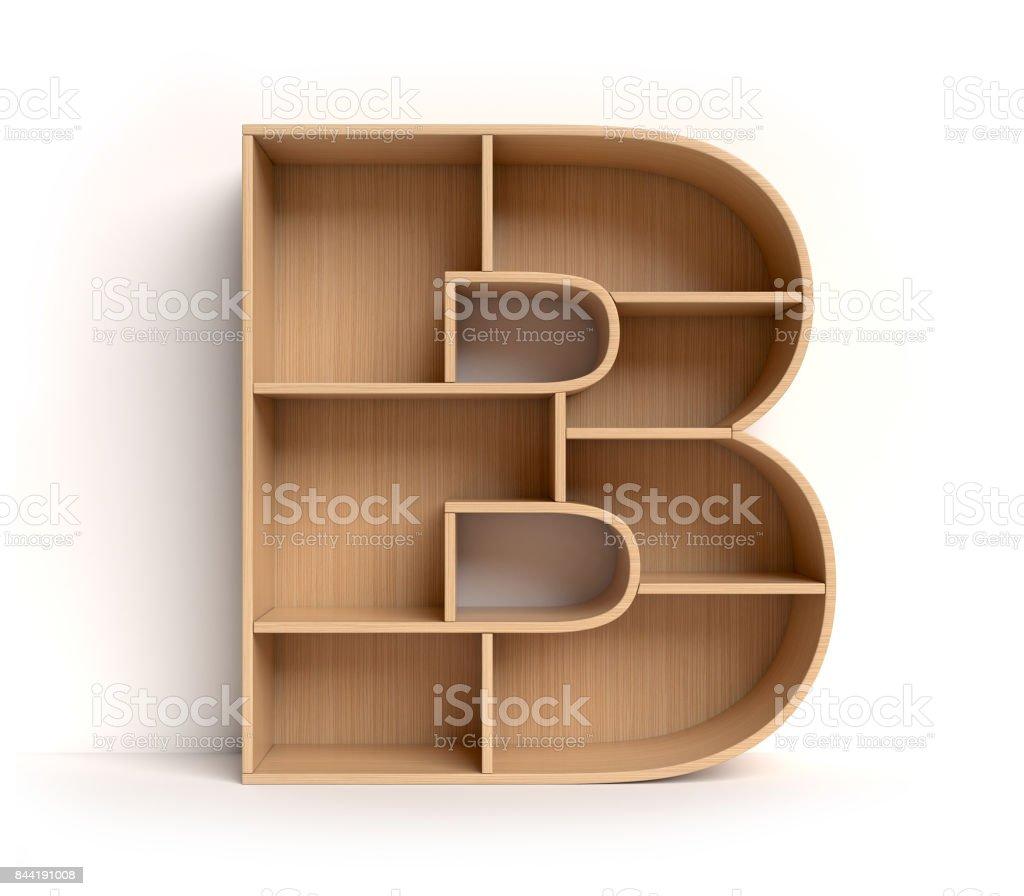 Raf yazı tipi harf B stok fotoğrafı