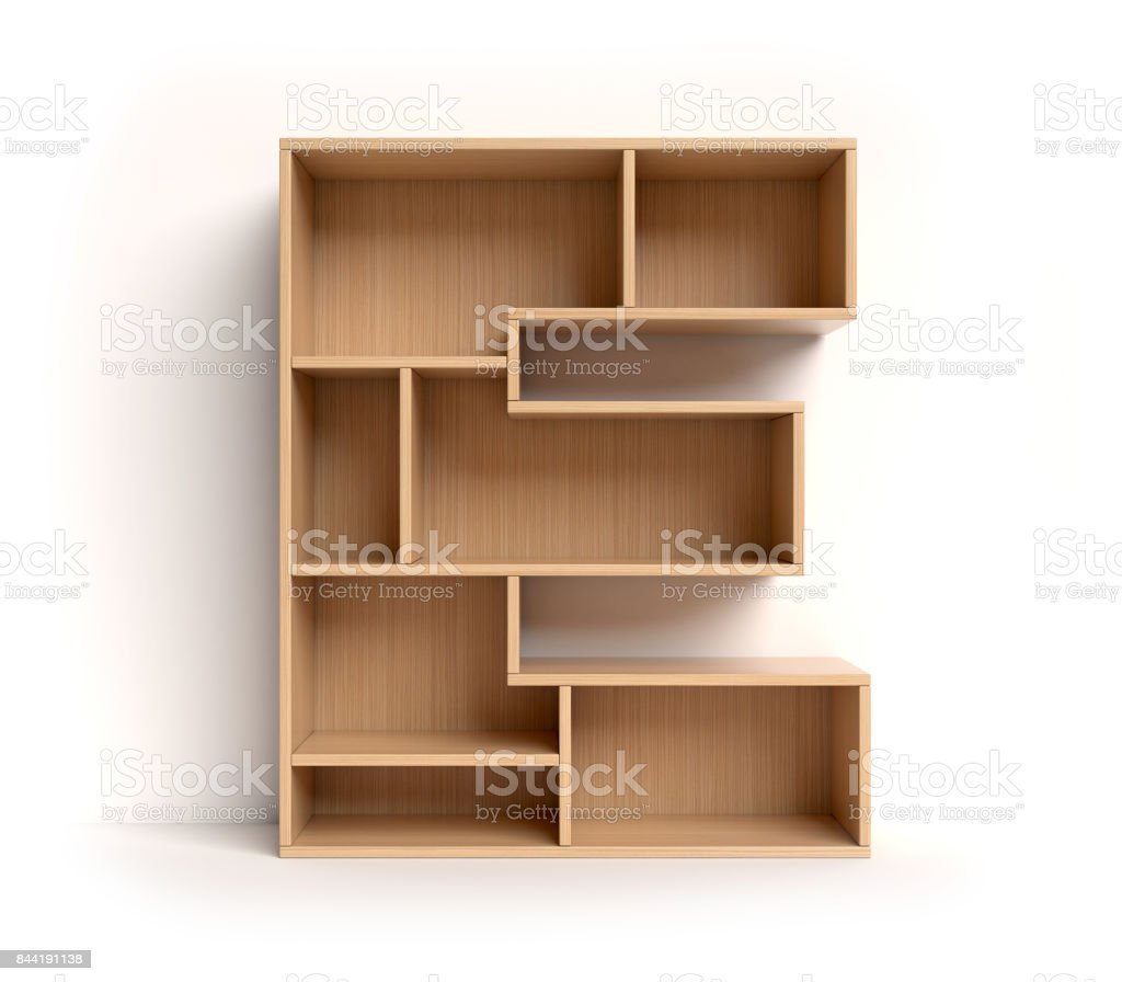 Shelf font letter E stock photo