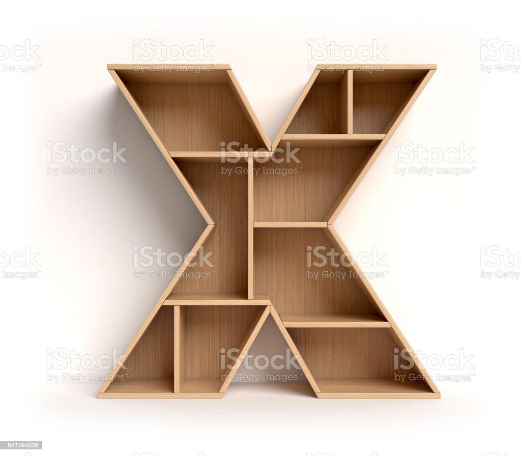 Shelf font letter X