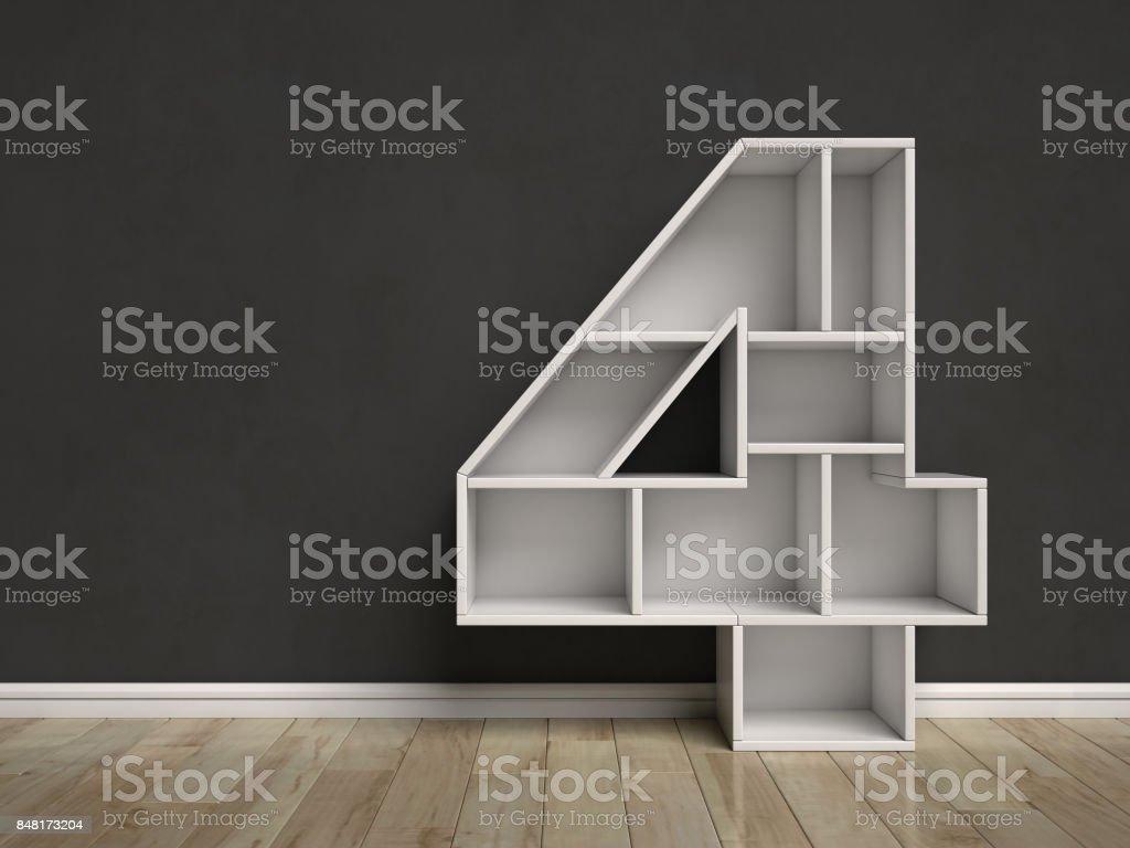 Shelf font mock up interior scene number 4 stock photo