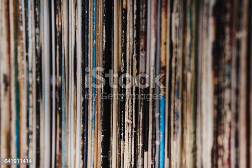 istock shelf full of old vintage vinyl records 641911414