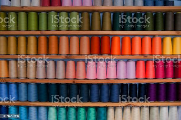 Shelf of colored sewing thread picture id667622320?b=1&k=6&m=667622320&s=612x612&h=03w6ddydb5n 2hat4x2l56feoznwpwwivco8hchut7g=