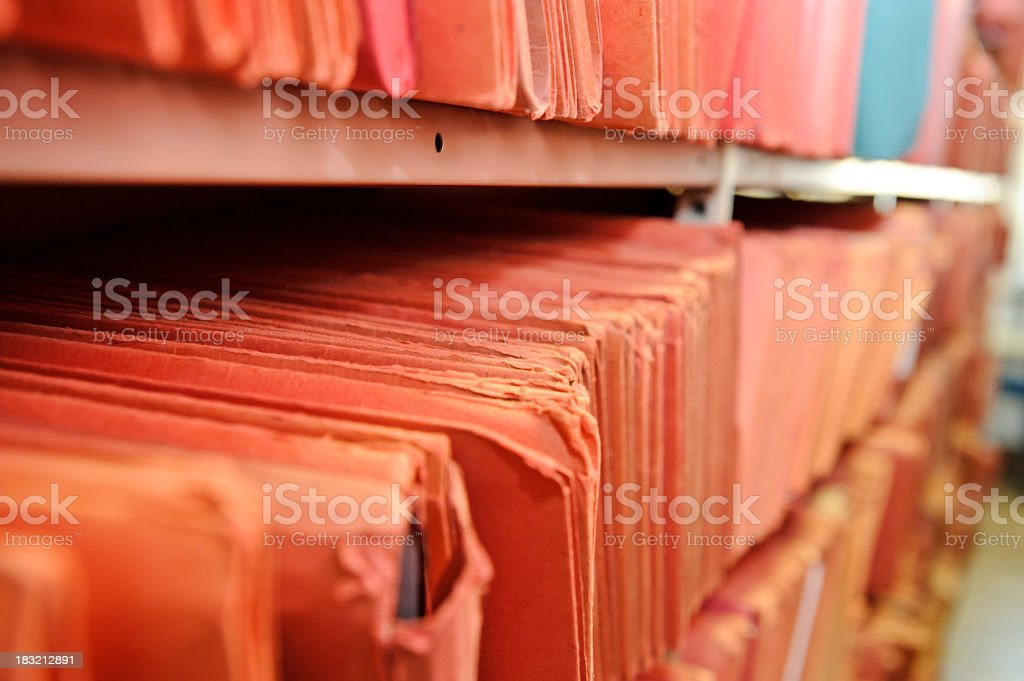 Shelf of files royalty-free stock photo