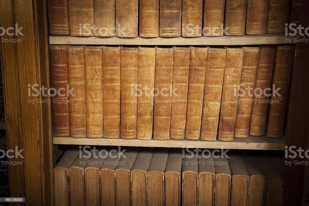 Regal von alten Bücher – Foto